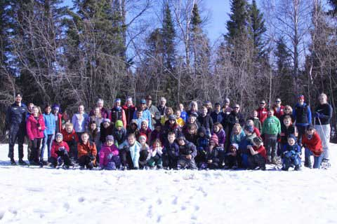 Delta Jr. Nordic Ski Club 2015.  (Photo credit Cindy Aillaud)